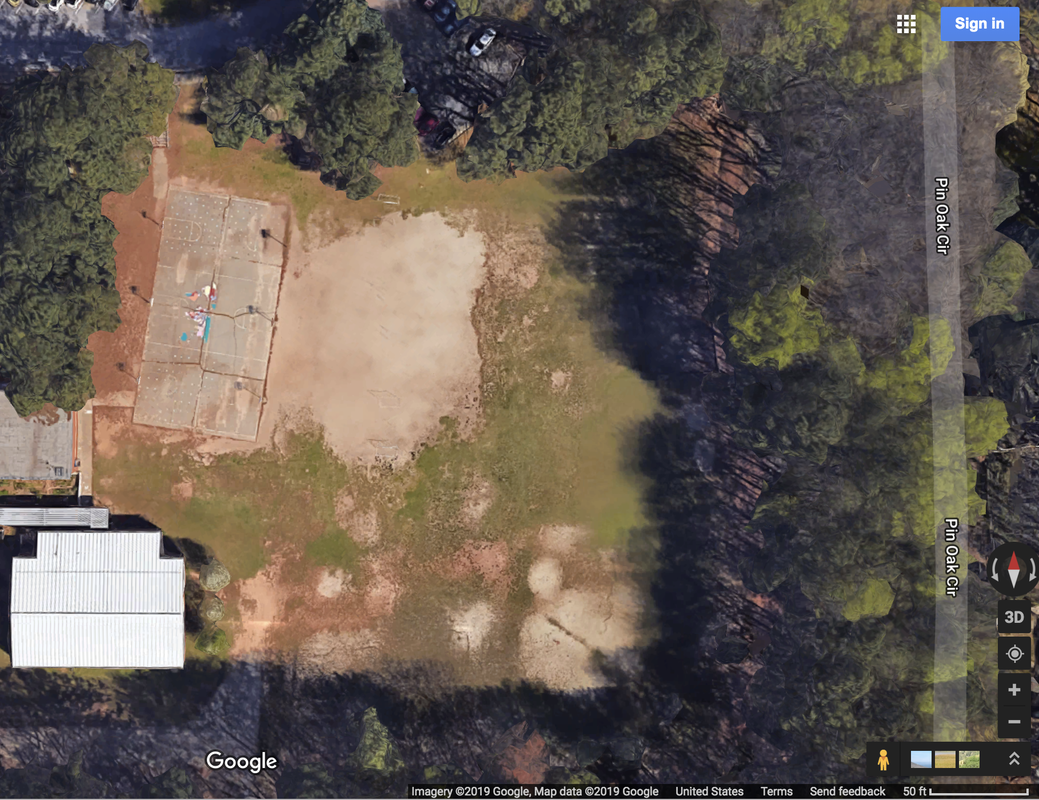 Google aerial image of playground
